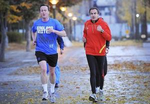 David Cameron y Zapatero en Seúl